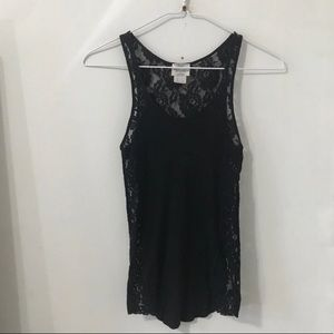 Intimately free People black lace tank top